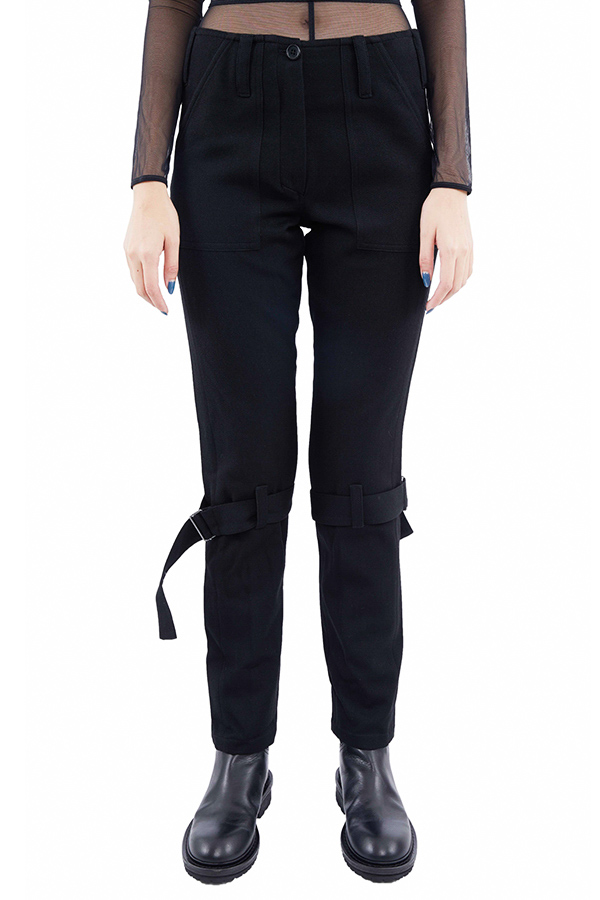 AW19 ANN DEMEULEMEESTER TROUSERS LAINECOTTON BLACK1