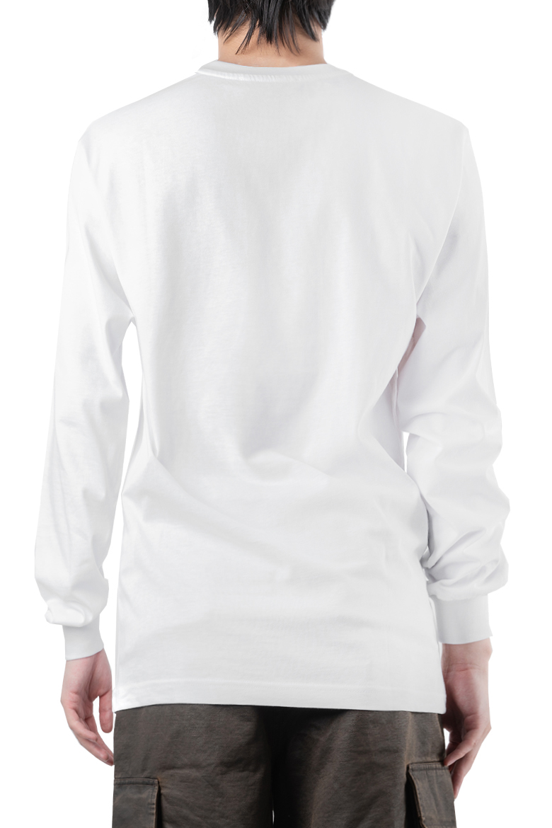 SS20 032C LONGSLEEVE WITH CHEST EMBROIDERY WHITE LSD043TP001 3