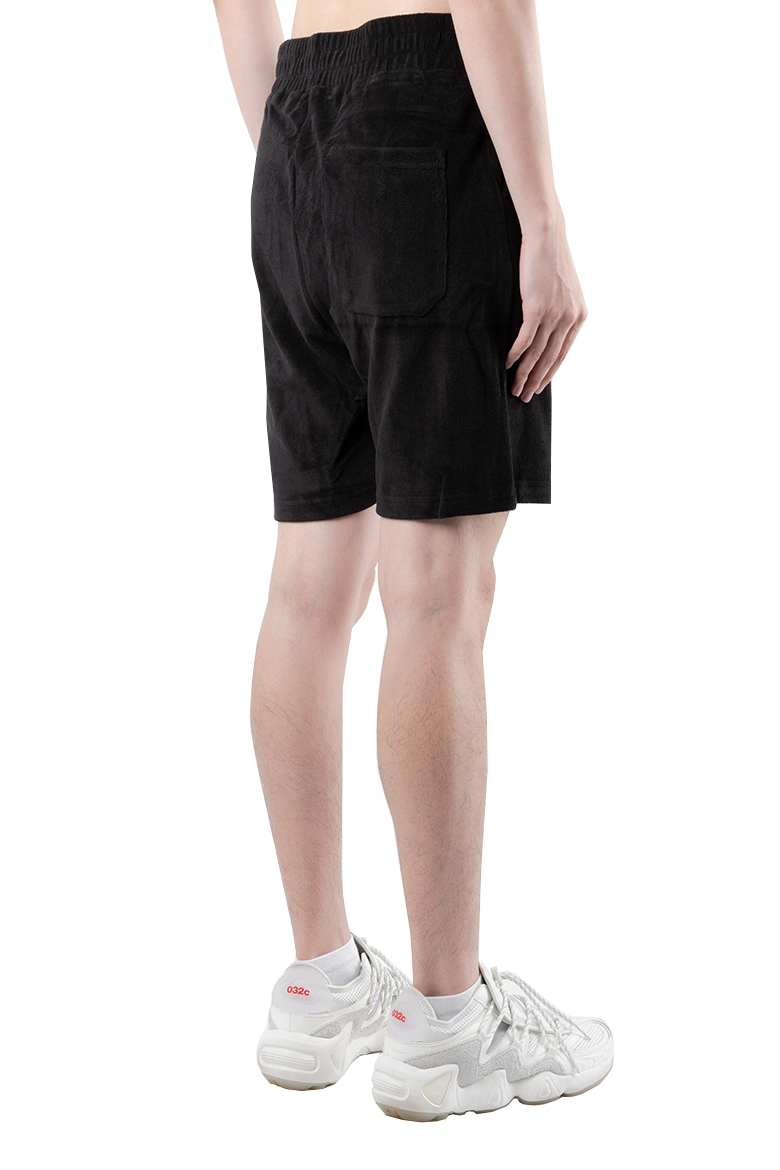 SS20 032C TERRY SHORTS WITH LOGO EMBROIDERY BLACK LSD062SB002.2 4